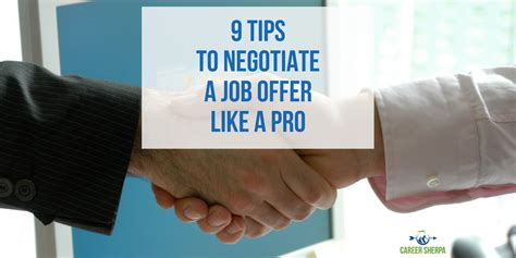 Offer Healthier Strategy For And Professional 9 tips to negotiate a offer like a pro career sherpa