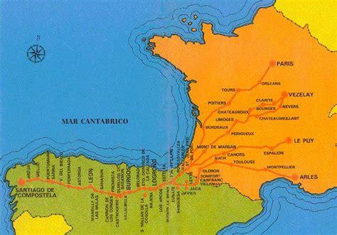 camino de santiago mappa mapa recorrido de santiago