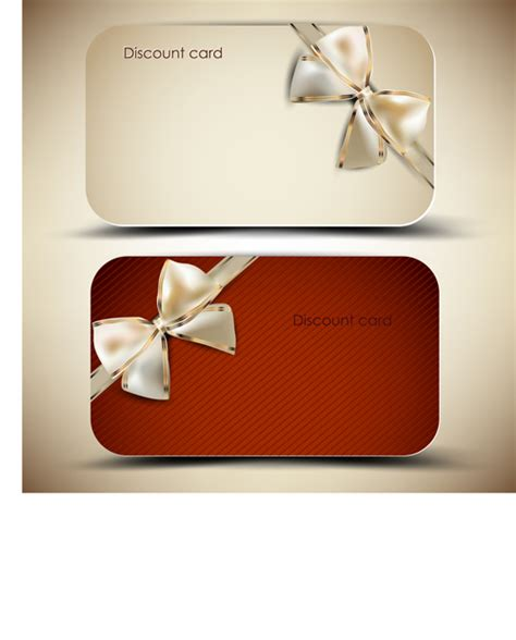 Gift Cards For Discount - creative of gift discount cards design vector 02 vector card free download