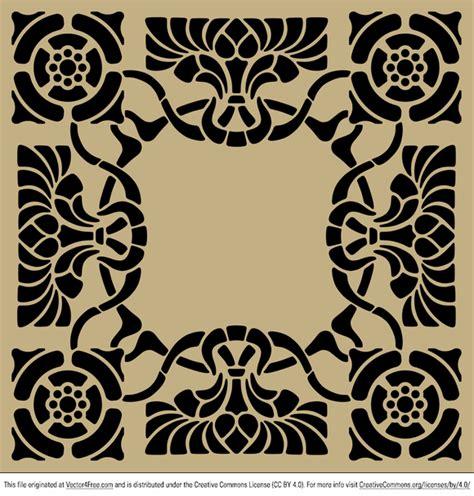stencil pattern artists art nouveau stencil pattern fichier vectoriel 365psd com