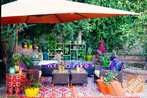 home depot outdoor decor outdoor decorating ideas a lush eclectic bohemian la patio