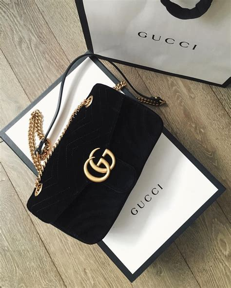 Tas Gucci Mini 446a gucci marmont velvet mini bag black it in black and fuchsia my style