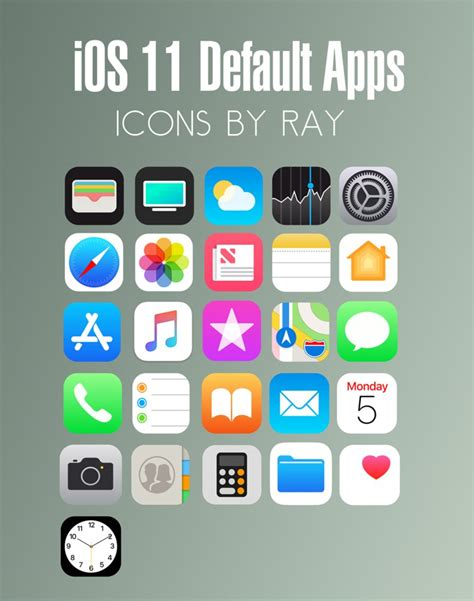 icons at top of iphone 5 driverlayer search engine ios 11 default app icons by ray by raiiy on deviantart