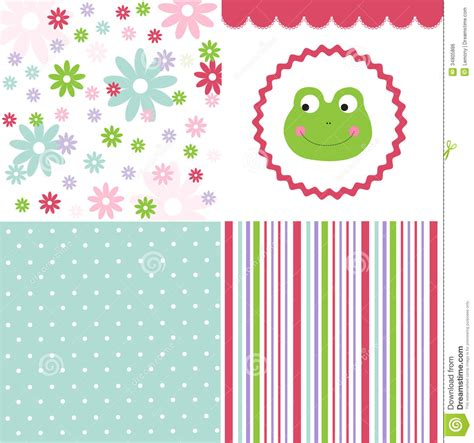 cute pattern set baby pattern set royalty free stock image image 34805886
