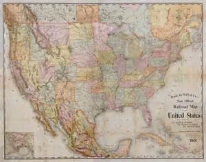 rand mcnally 1901 railroad map of the continental united