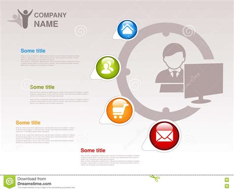 profile of company infographic template symbol of