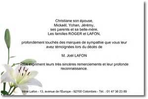 Exemple De Lettre De Remerciement Pour Un Enterrement Quot Le Lys Quot Carte De Remerciement D 233 C 232 S Sur Deuil Imprim