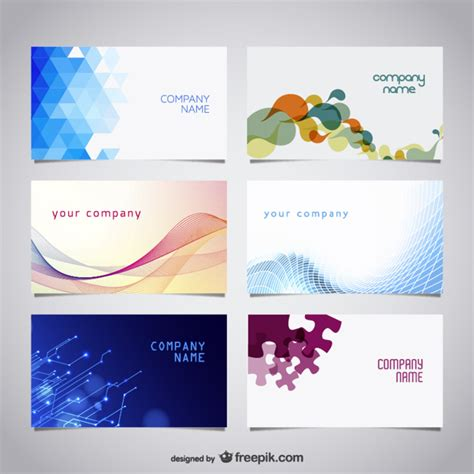cards free proffesional business card set vector free