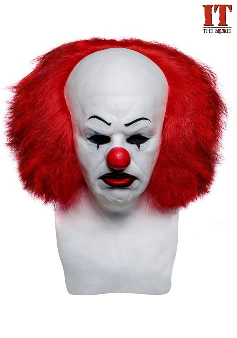 It Pennywise Clown Mask Costume pennywise it collectors mask