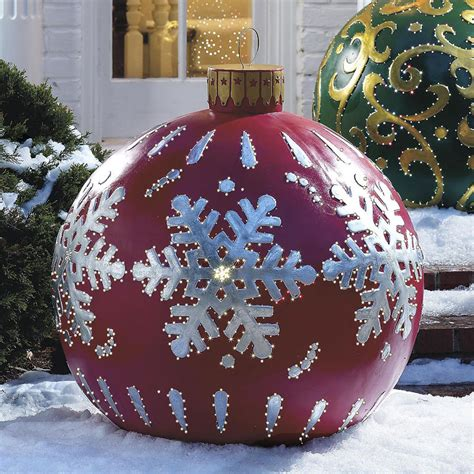 Colored Lighted Outdoor Christmas Decorations Balls 14 Lighted Decorations Outdoor