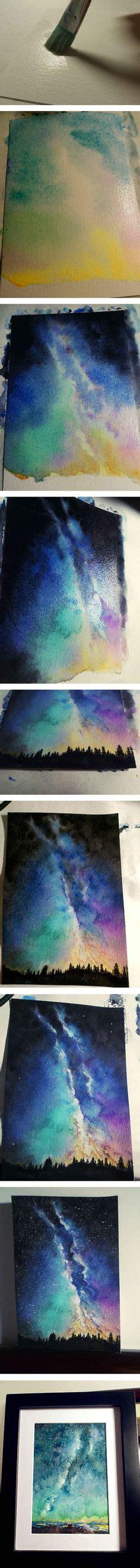 watercolor tutorial night sky pinterest the world s catalog of ideas