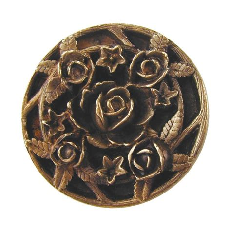 Notting Hill Knobs by Notting Hill Floral 1 1 16 Inch Diameter Antique Brass