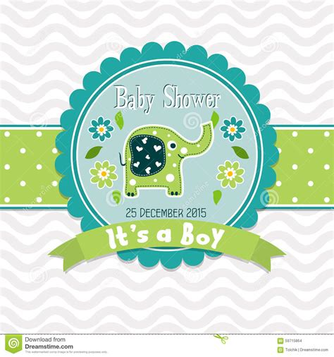 template greeting card baby shower vector vector