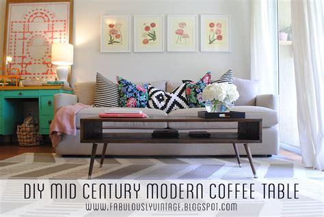mid century modern coffee table diy fabulously vintage diy mid century modern coffee table