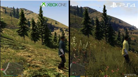 Xbox One Gta V gta v ps4 vs xbox one comparison gifs shows startling and