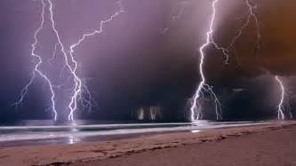 aus lighting freak lightning storms rumble across western