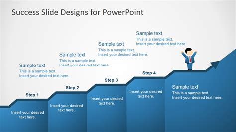 leadership success profile diagram powerpoint template success in four steps powerpoint slides slidemodel