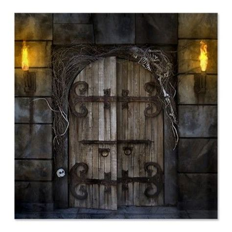 spooky shower curtain gothic spooky door shower curtain props pinterest