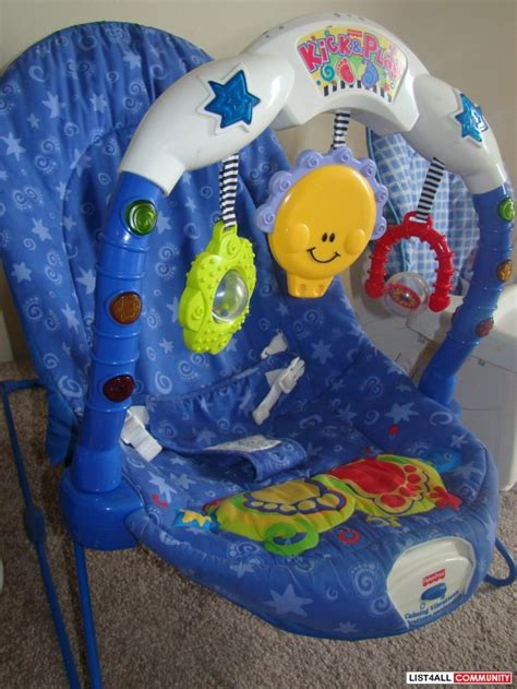Fisher Price Vibrating Chair by Fisher Price Musical Vibrating Bouncy Chair Lolas List List4all
