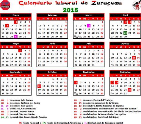 Calendario Zaragoza 2015 Gatos Sindicales Zaragoza Calendario Laboral 2015 Zaragoza