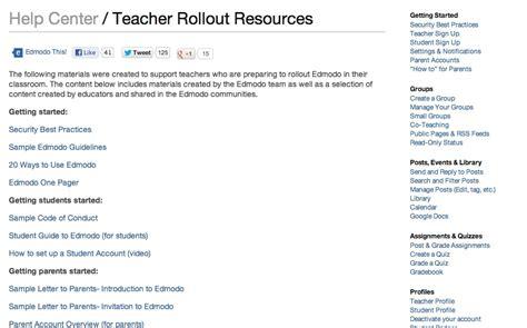 edmodo explained edmodo teacher rollout materials here s how tutorials