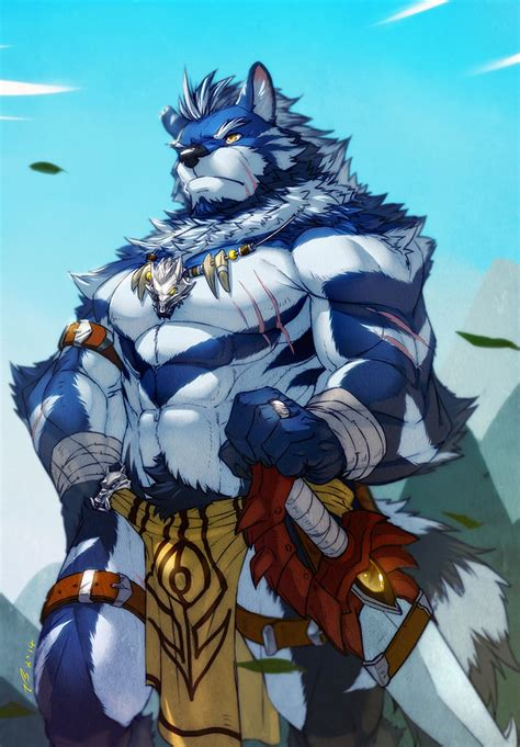 blue wolf warrior by fliegen80s on deviantart