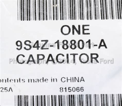 ignition transformer capacitor ford focus new oem radio suppression capacitor ford focus transit connect 9s4z 18801 a ebay