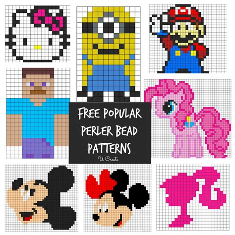 how to make perler bead patterns free perler bead patterns for u create