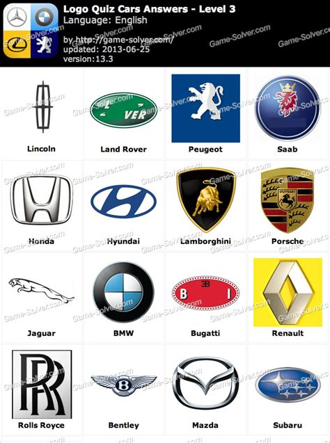 logo quiz cars answers level