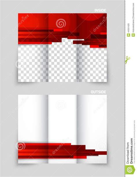 brochure template red tri fold brochure template design stock vector image
