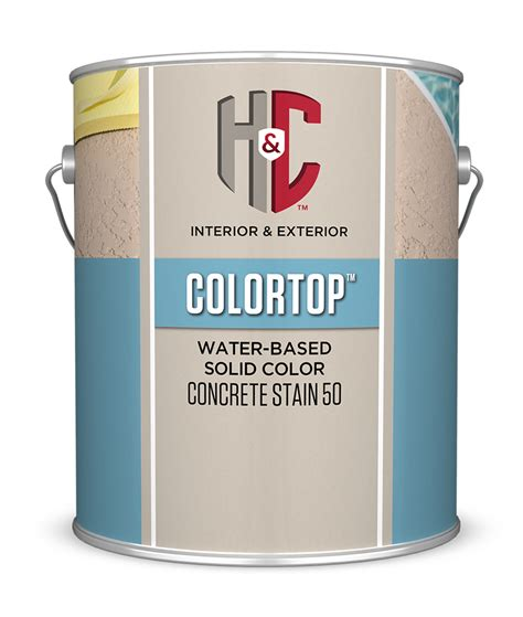 colortop  water based hc concrete
