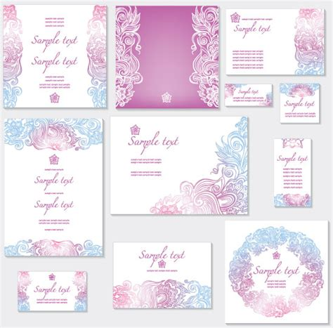 sentence pattern blueprint cards 4 designer pattern card design 01 vector material