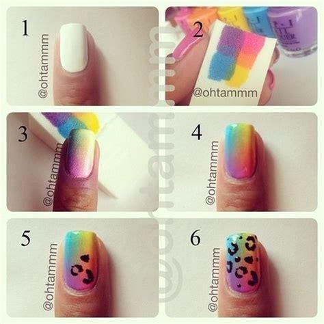 tutorial nail art degrade only shopping blog fashion blogger tutorial per unghie