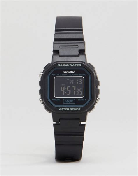 casio casio digital in black la20wh 1b