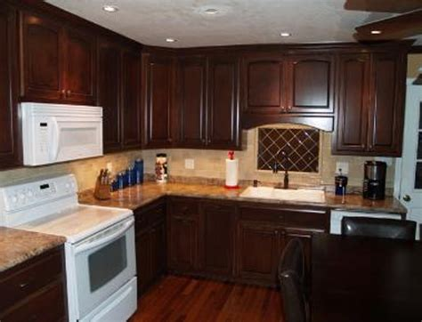 staining old cabinets kitchen darker color gel stain on
