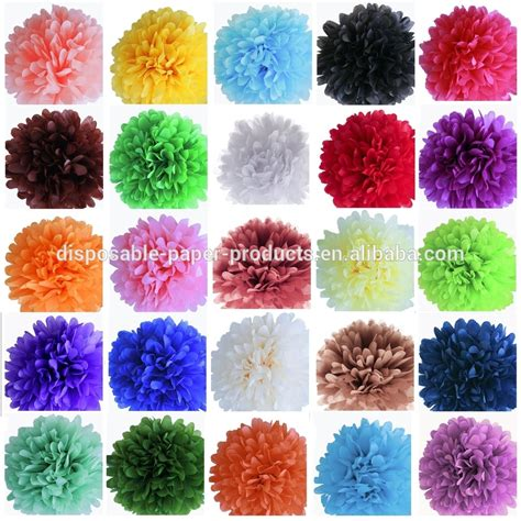 yiwu factory wholesale tissue paper flowers balls pack