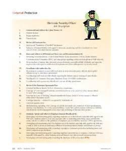 Security Supervisor Duties by Door Security Door Security Description