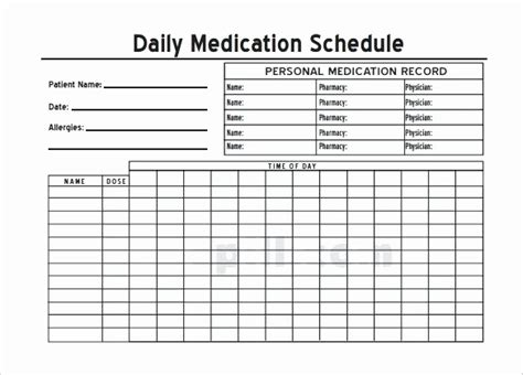 medication spreadsheet template daily medication schedule spreadsheet new daily