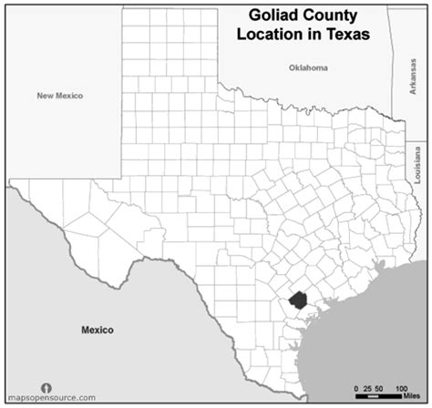 where is goliad texas on the texas map free and open source location map of goliad county texas grayscale mapsopensource