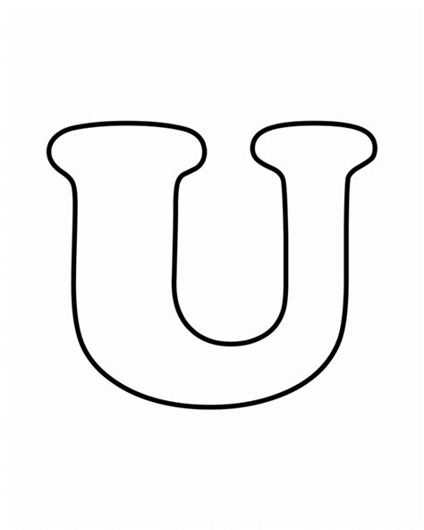 Letter U letter u coloring pages to and print for free