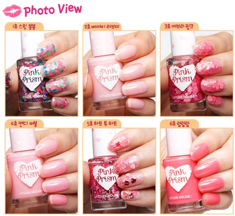 Etude House Nails Dgr704 etude house pink prism mini nail collection and others