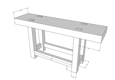 typical bench depth workbenches balancing the base and top