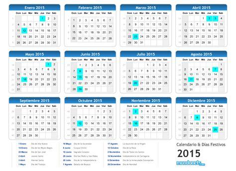 Calendario De Dias Festivos 2015 Calendario 2015 Mundonets