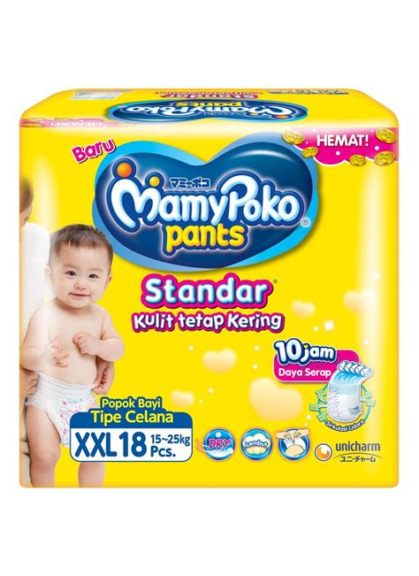 Mamy Poko Standar Ukuran Xl mamy poko standar 18 s pck klikindomaret