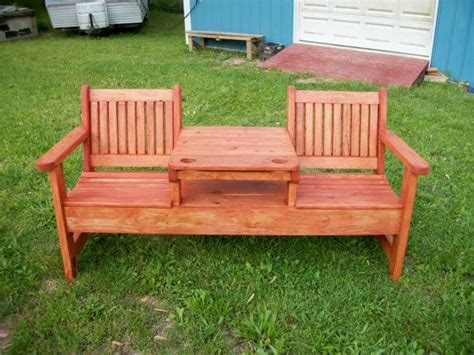outside table and benches outdoor bench table deck furniture twin seat bench with