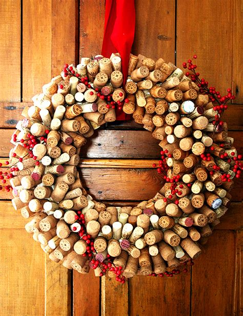 christmas ideas for wine corks how to make a cork wreath food related gift ideas
