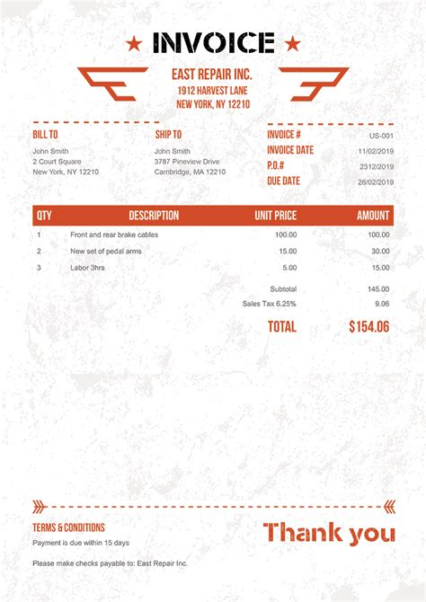 100 Free Invoice Templates Print Email As Pdf Fast Secure Window Tint Invoice Template