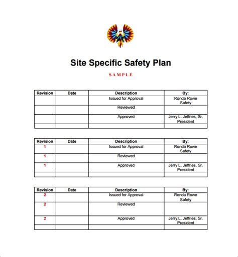11 Safety Plan Templates Free Sles Exles Format Sle Templates Site Security Plan Template