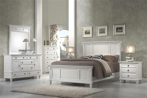 White Shutter Bedroom Furniture winchester white shutter panel bedroom set 1306q alpine