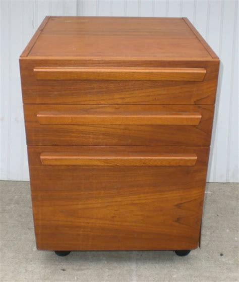 Teak File Cabinet by Teak File Cabinet On Wheels For Sale At 1stdibs